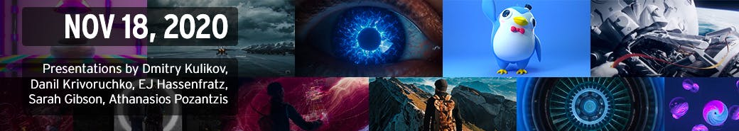 Watch the The 3D and Motion Design Show - November 18, 2020 presentations